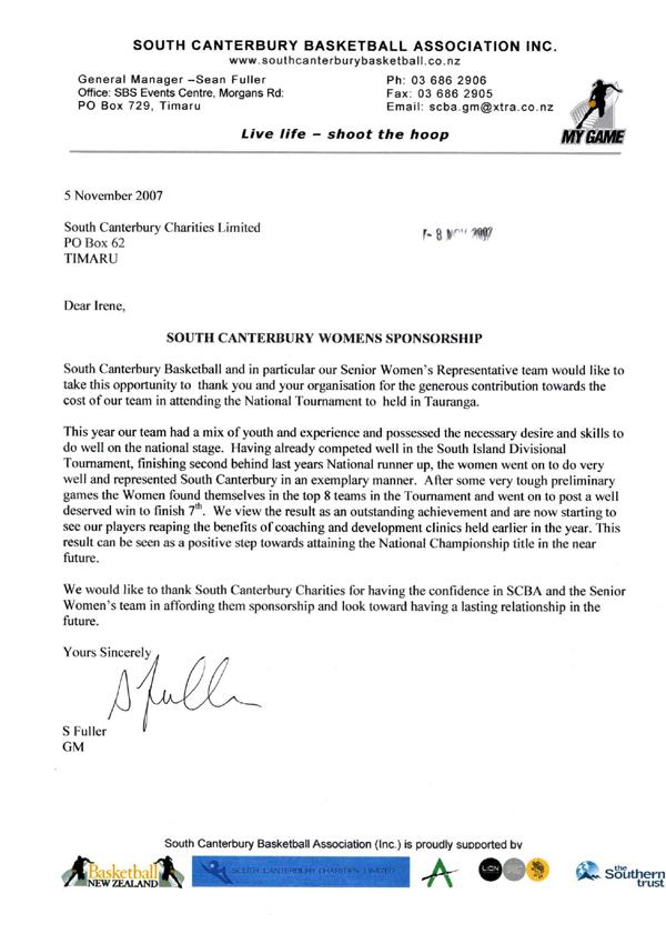 south canterbury basketball association timaru testimonial